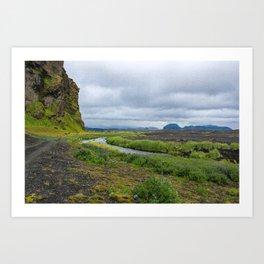 The Winding River Art Print