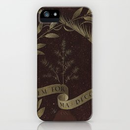 "Leonardo Da Vinci ""Wreath of Laurel, Palm, and Juniper with a Scroll inscribed Virtutem Forma Decor"" iPhone Case"