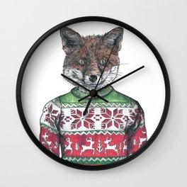 Fantastic Mr Fox (in a smashing christmas jumper) Wall Clock