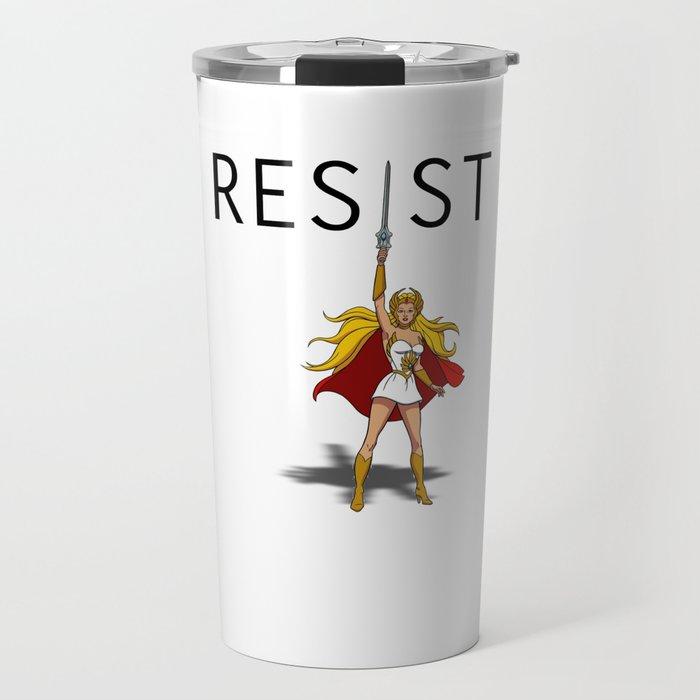 "She-Ra says ""RESIST"" Travel Mug"