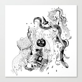 Witches Brew (Full Moon) Canvas Print