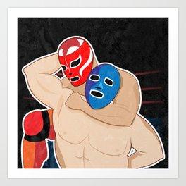Lucha Libre Wrestling Art Print