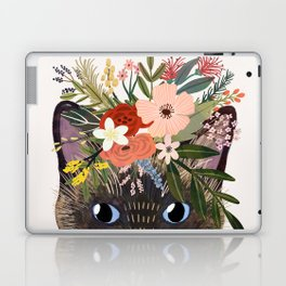 Siamese Cat with Flowers Laptop & iPad Skin