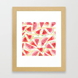 Watercolor Watermelon Framed Art Print