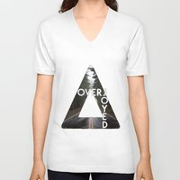 bastille V-neck T-shirts featuring Bastille - Overjoyed by Thafrayer