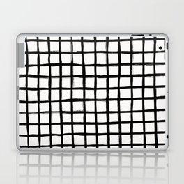 Strokes Grid - Black on Off White Laptop & iPad Skin