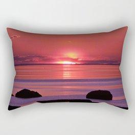 Sunset Ripples Rectangular Pillow