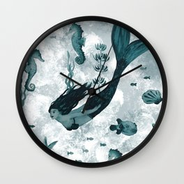 Under the Sea (Teal) Part 2 Wall Clock