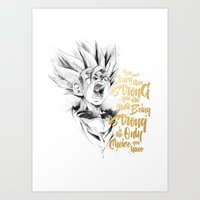 dragonball z Art Prints featuring Dragonball Z - Strenth by Straife01