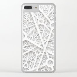 van structural concept white Clear iPhone Case