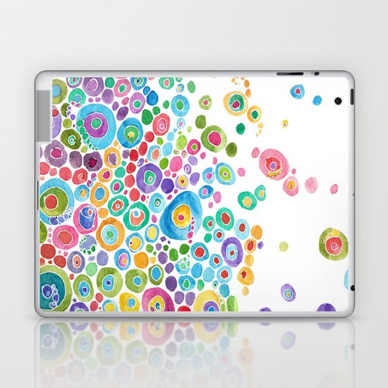 Inner Circle - white Laptop & iPad Skin