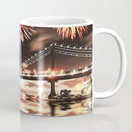 new york city with fireworks Coffee Mug