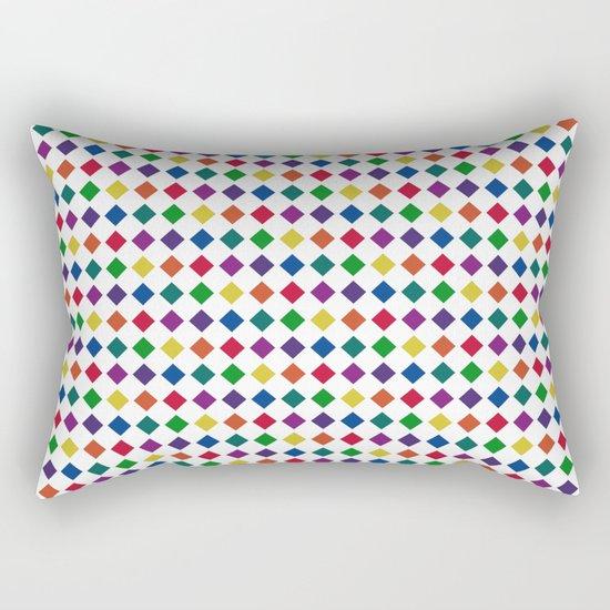 Colorful Seamless Rectangular Geometric Pattern Rectangular Pillow