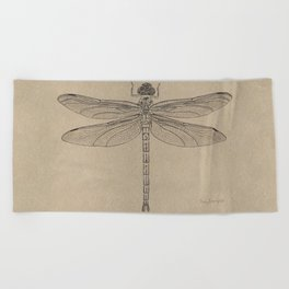 Dragonfly Fossil Dos Beach Towel