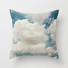 January Clouds Throw Pillow