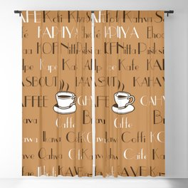 Coffee Cafe Subway Art 2.0 Blackout Curtain