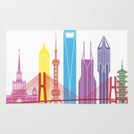Shanghai V2 skyline pop Rug