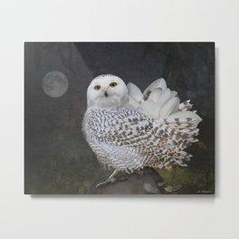 If an owl became a magnolia Metal Print
