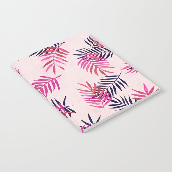 Pink Palm Pattern Notebook