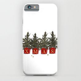 Merry Christmas tree pods iPhone Case