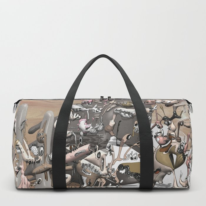 Migration II - surreal doodle sandworld Duffle Bag