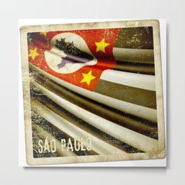 Sticker of Brazil (San Paulo) flag Metal Print