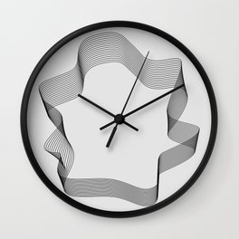 ''Dove Collection'' - Minimal Letter O Print Wall Clock