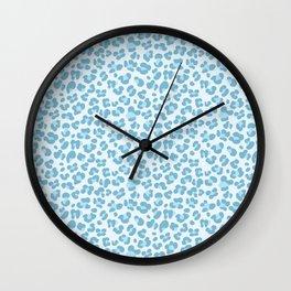 Baby Blue Leopard Wall Clock