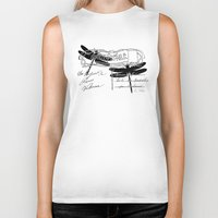 postcard Biker Tanks featuring Dragonflies postcard by Marion de Lauzun