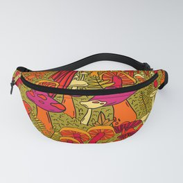 Mushrooms in the Forest Fanny Pack