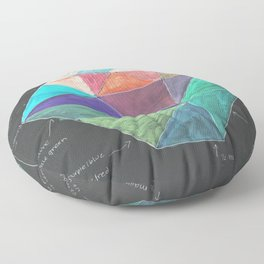 Inverted Color Study Floor Pillow