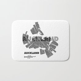 Auckland Map Bath Mat