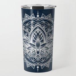 Lotus Mandala (white) Travel Mug