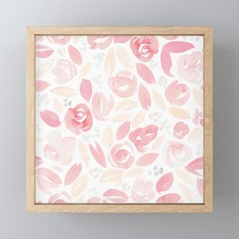 Floral Pattern #2 | Peach Pink Palette Framed Mini Art Print
