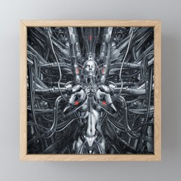 Maiden In The Machine Framed Mini Art Print