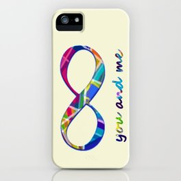 You and Me Infinity iPhone Case