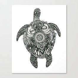 Ink Turtle Canvas Print