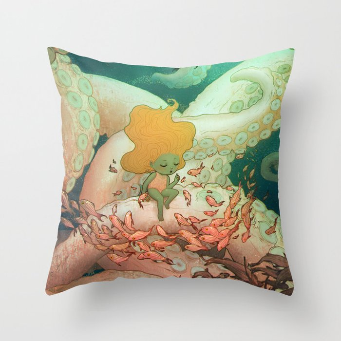 Listen To Me And I'll Tell You A Story Throw Pillow