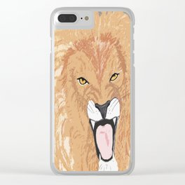 The Lion of the Tribe of Judah Clear iPhone Case
