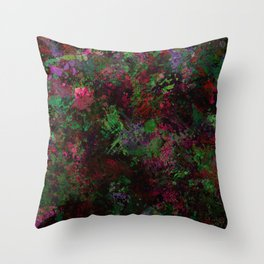 Purple Warfare - Abstract purple, pink, green and black abstract Throw Pillow