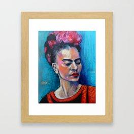 Je te ciel, hommage à Frida Kahlo Framed Art Print