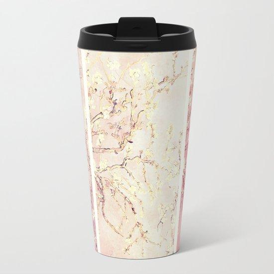 Vincent Van Gogh : Almond Blossoms Panel ART Metal Travel Mug