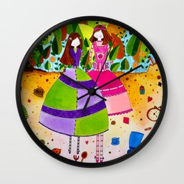Alice in Wonderland #12 Wall Clock