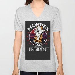 Funny Hobbes For President Unisex V-Neck