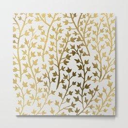 Gold Ivy Metal Print