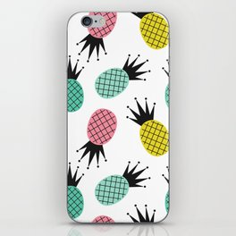 colorful cute pineapples  pattern background illustration iPhone Skin