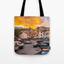 Madeira sunset Tote Bag
