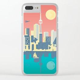Toronto City Skyline Art Illustration - Cindy Rose Studio Clear iPhone Case