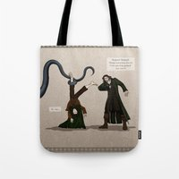 aragorn Tote Bags featuring Thankless Job by wolfanita