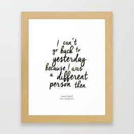 Different person Framed Art Print